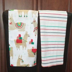 Fa La La Llama Tea Towel Set + oven Mitt